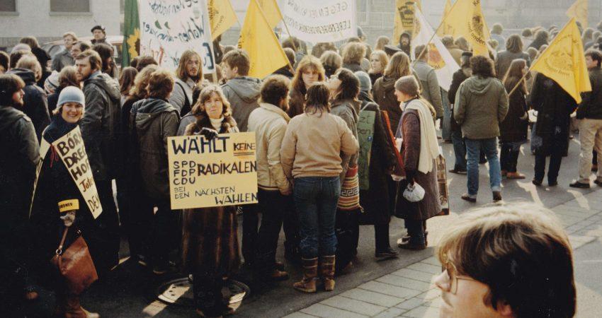 Demonstrierende in Weilburg 1982