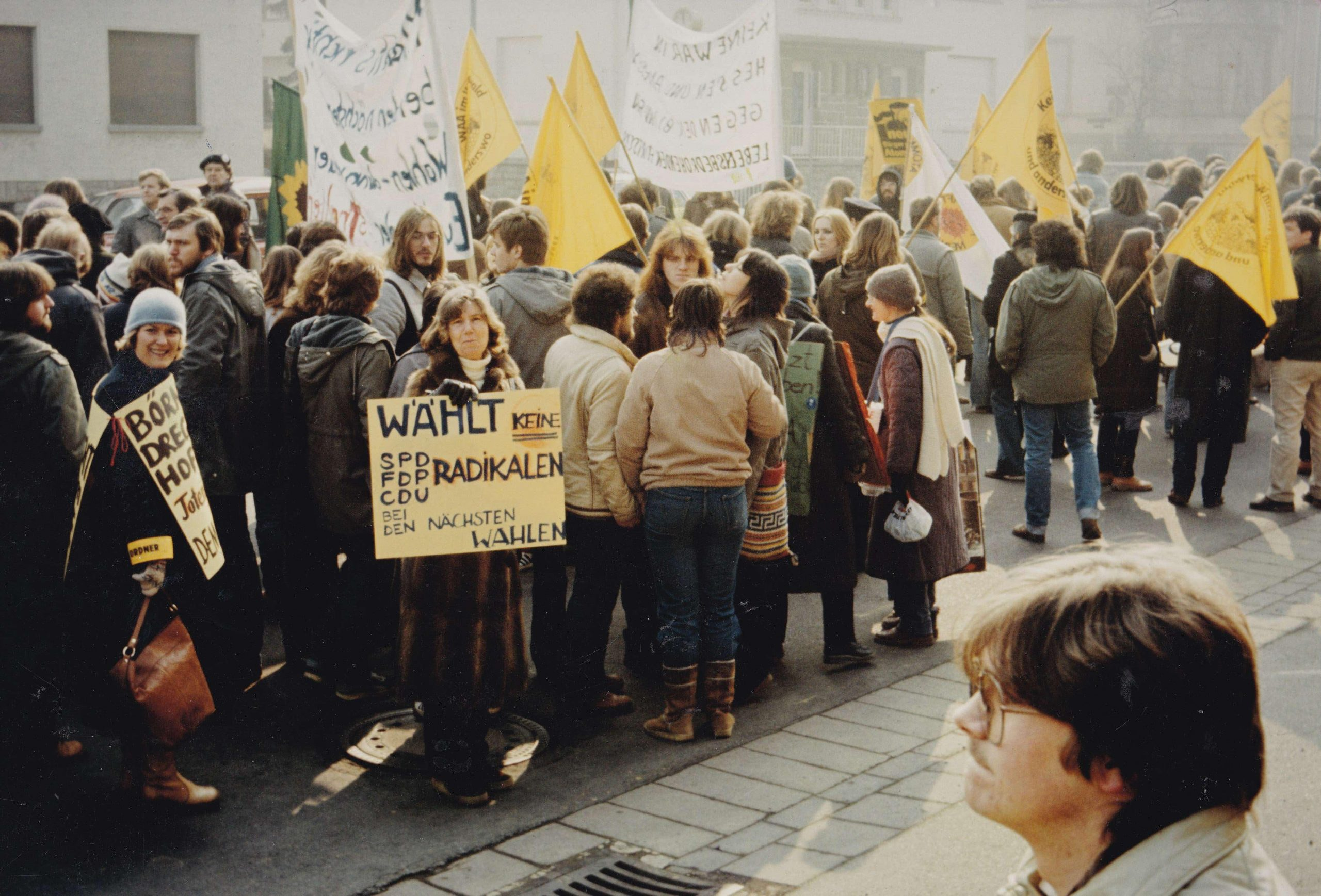 Demonstrierende in Weilburg 1982